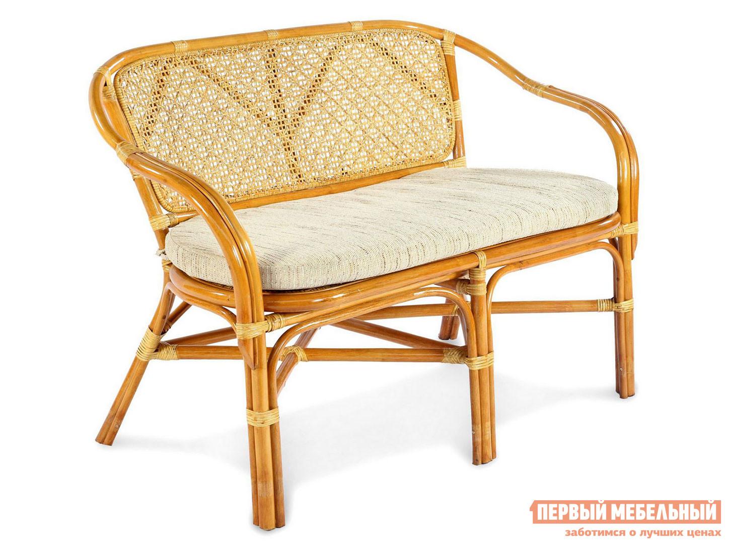 Плетеный диван для дачи ЭкоДизайн ELLENA 11/21-C