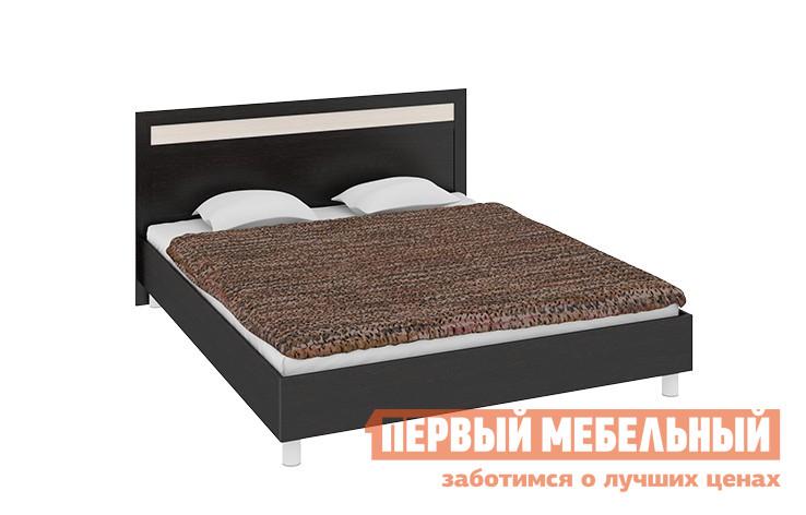 Двуспальная кровать ТриЯ Токио СМ-131.01.001, СМ-131.02.001 Венге мебельтрия кровать двуспальная токио см 131 01 002 дуб белфорт кожа темная