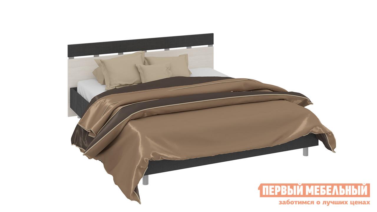 Двуспальная кровать ТриЯ 194.01.001 спальный гарнитур трия саванна к1