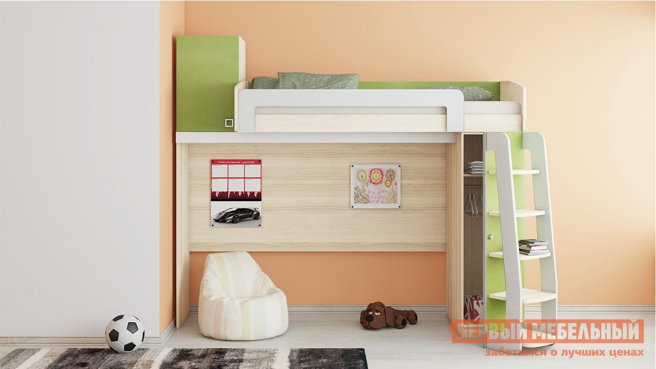 Кровать-чердак высокая ТриЯ ПМ-139.01 мебель трия зеркало настенное грета пм 119 11tri pm 119 11tri pm 119 11