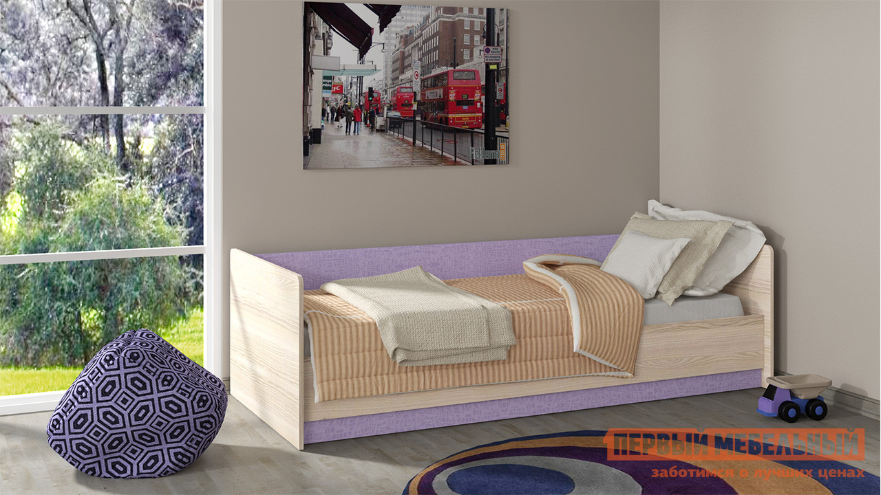 Детская кровать-тахта угловая ТриЯ ПМ 145.02 мебель трия зеркало настенное грета пм 119 11tri pm 119 11tri pm 119 11