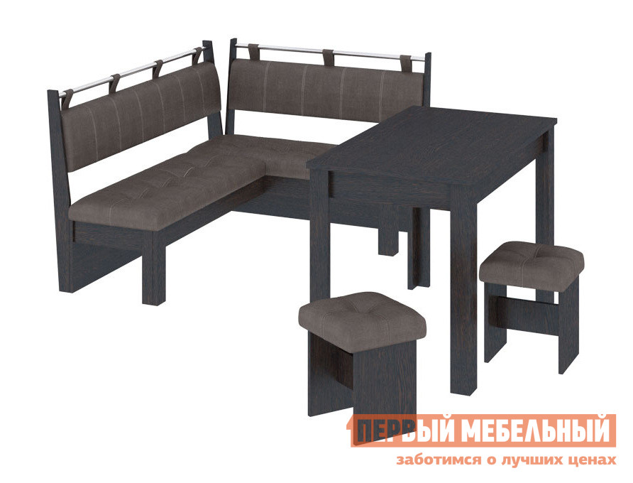 Кухонный уголок  Омега Венге Цаво / Лен коричневый