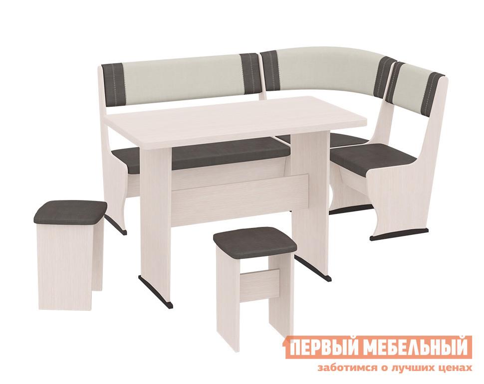 Кухонный уголок со столом ТриЯ Челси Т1 кухонный уголок трия кантри т1 исп 3 венге темно коричневая 725 иск кожа