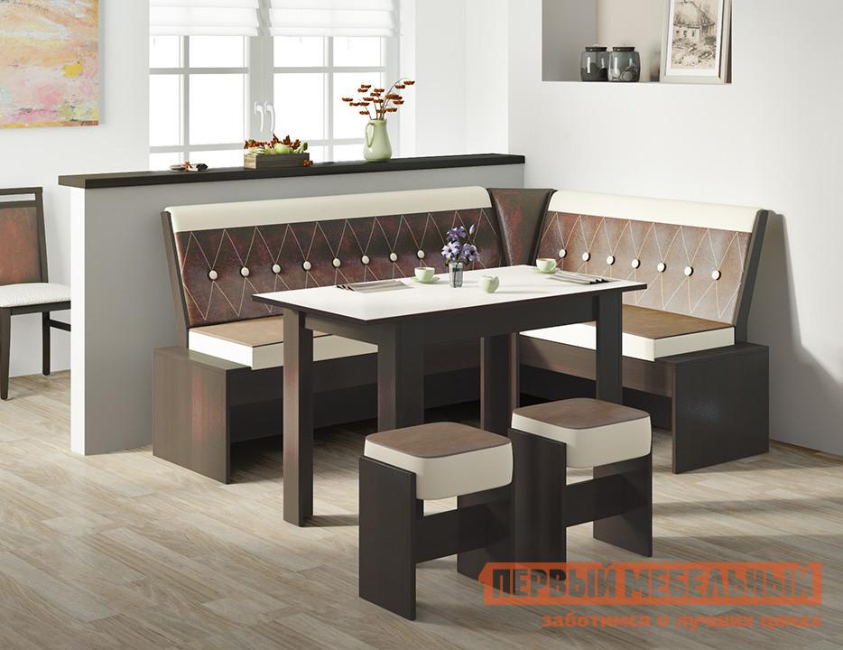 Мягкий уголок для кухни ТриЯ Кантри Т1 исп.1 кухонный уголок трия кантри т1 исп 3 венге темно коричневая 725 иск кожа