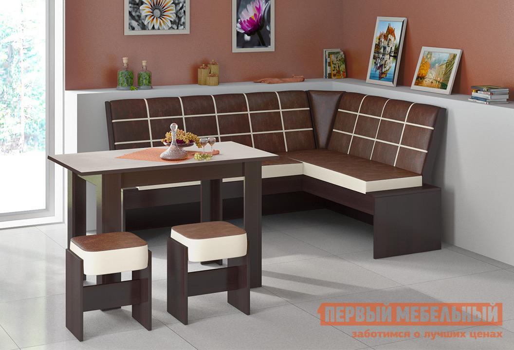 Мягкий уголок для кухни ТриЯ Кантри Т1 исп.2 кухонный уголок трия кантри т1 исп 3 венге темно коричневая 725 иск кожа