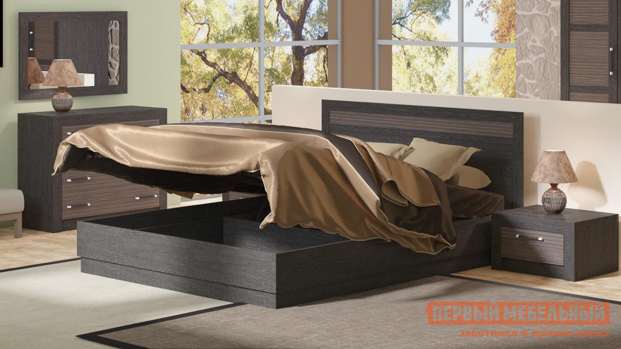 Двуспальная кровать ТриЯ Токио СМ-131.12.001, СМ-131.13.001 Темный мебельтрия кровать двуспальная токио см 131 01 002 дуб белфорт кожа темная