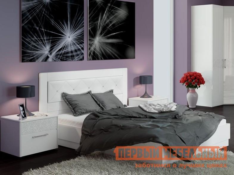 Двуспальная кровать ТриЯ Амели СМ-193.01.006 мебельтрия кровать двуспальная токио см 131 01 002 дуб белфорт кожа темная
