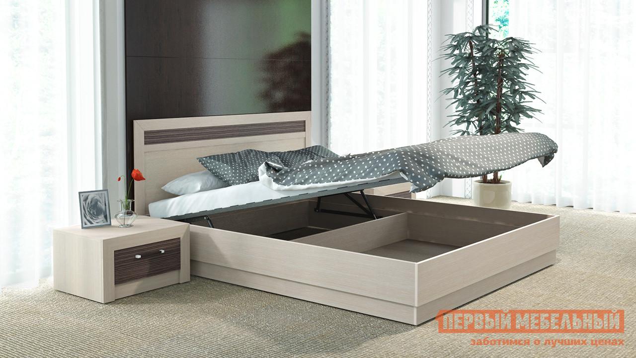 Двуспальная кровать ТриЯ Токио СМ-131.12.001, СМ-131.13.001 Светлый мебельтрия кровать двуспальная токио см 131 01 002 дуб белфорт кожа темная