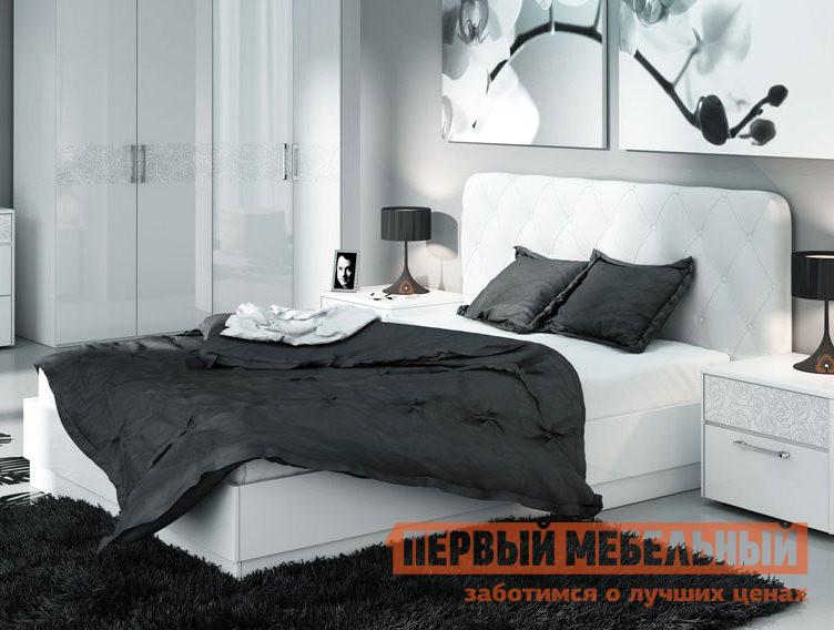 Двуспальная кровать ТриЯ Амели СМ-193.01.004 мебельтрия кровать двуспальная токио см 131 01 002 дуб белфорт кожа темная