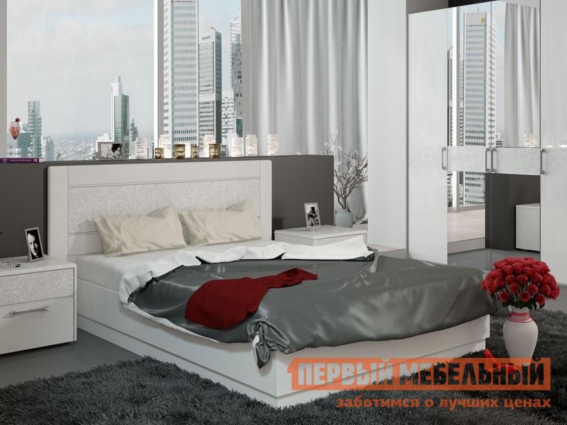 Двуспальная кровать ТриЯ Амели СМ-193.01.002 мебельтрия кровать двуспальная токио см 131 01 002 дуб белфорт кожа темная