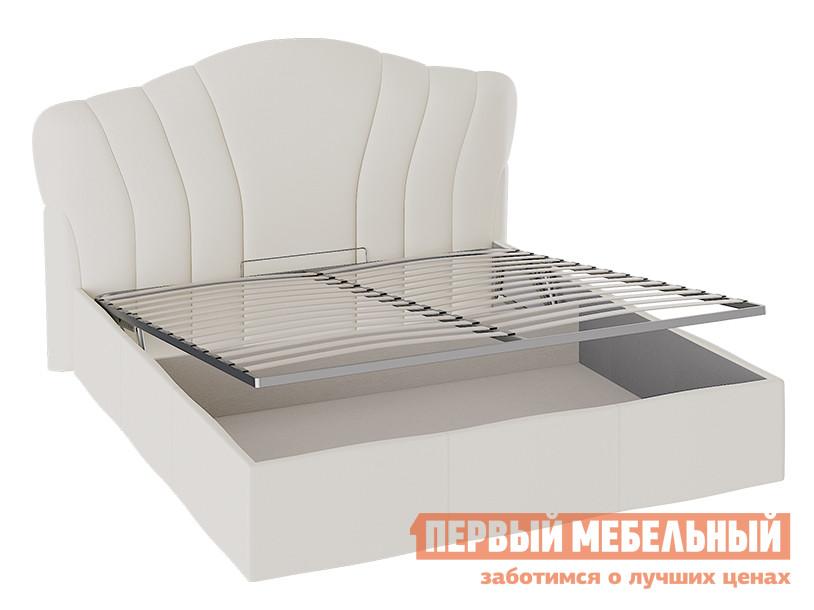 Двуспальная кровать ТриЯ Сабрина ТД-307.01.02 Кровать с мягкой спинкой и ПМ (1600) двуспальная кровать боровичи мелисса с мягкой спинкой