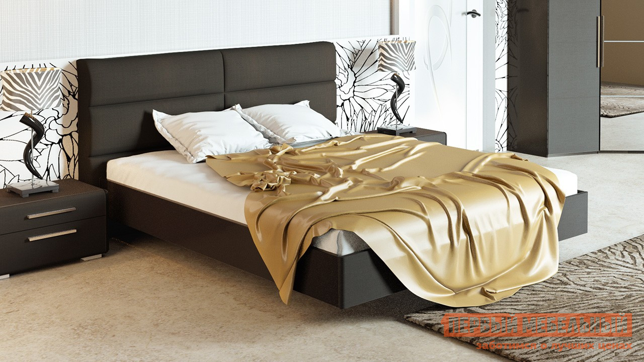 Двуспальная кровать ТриЯ СМ-208.01.04 спальный гарнитур трия саванна к1