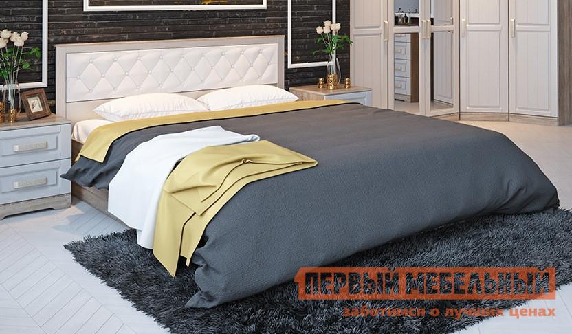 Двуспальная кровать ТриЯ СМ-223.01.006 мебельтрия кровать двуспальная токио см 131 01 002 дуб белфорт кожа темная