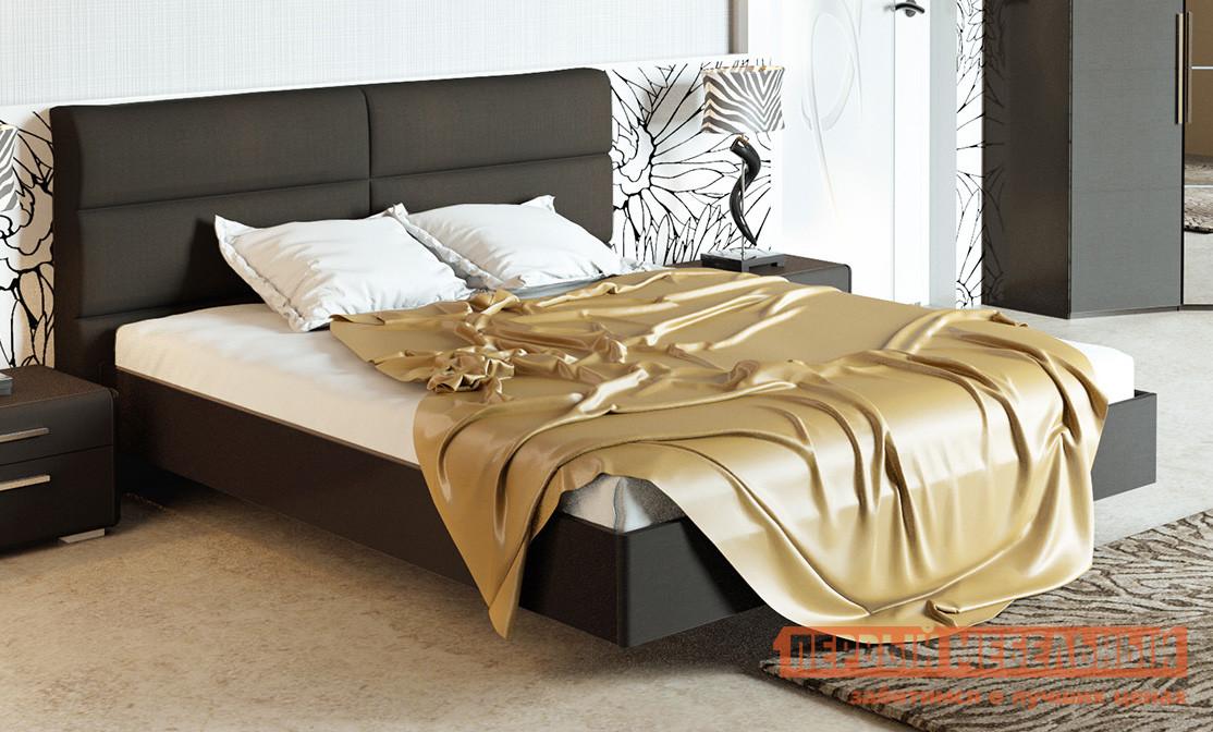 Двуспальная кровать ТриЯ СМ-208.01.03 мебельтрия кровать двуспальная токио см 131 01 002 дуб белфорт кожа темная