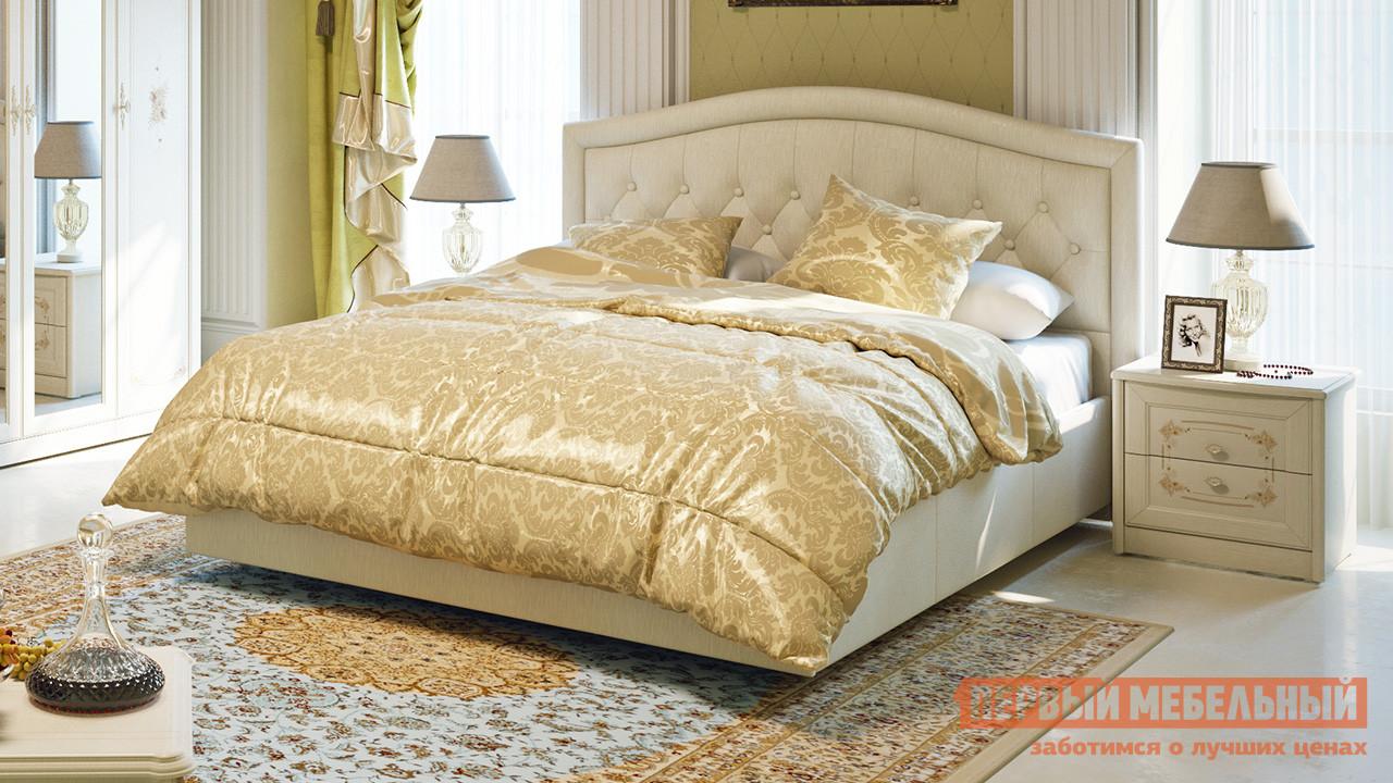 Двуспальная кровать кожаная ТриЯ Адель СМ-300.01.11(5) (ТД-300.01.05+ТД-300.01.11) настенное зеркало трия тд 235 06 01