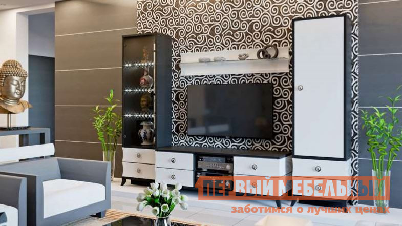 Стенка для гостиной ТриЯ ГН-249.101 стенка для гостиной трия ривьера гн 241 202 набор мебели для гостиной 2