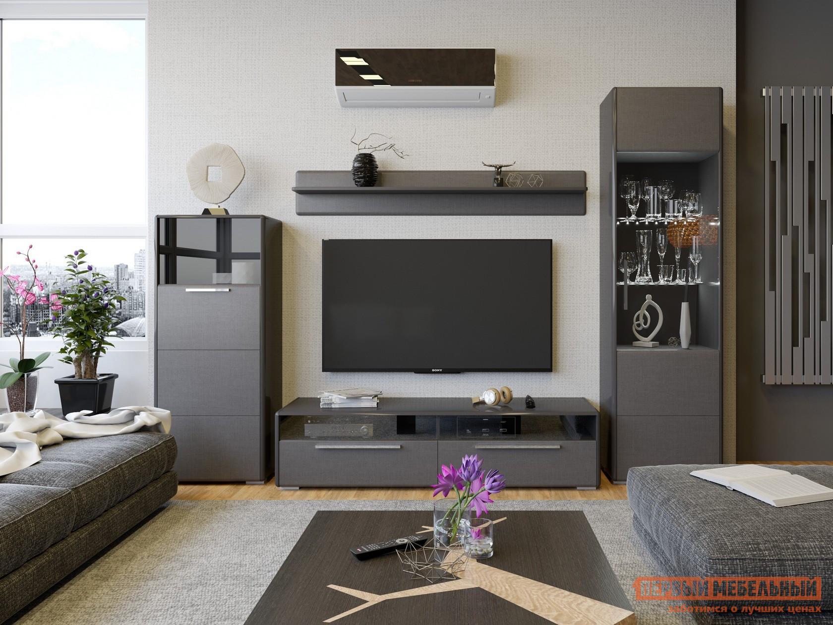 Стенка для гостиной ТриЯ ГН-208.104 стенка для гостиной трия ривьера гн 241 202 набор мебели для гостиной 2