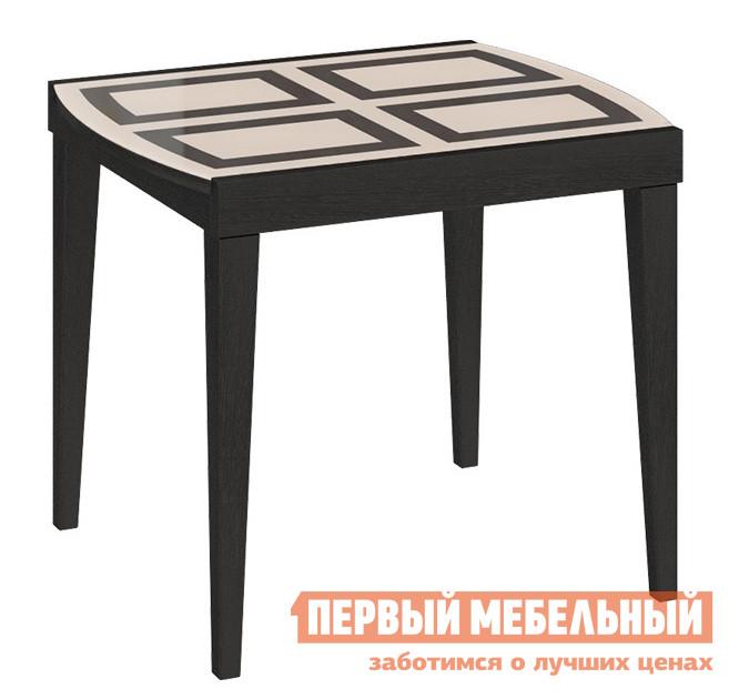 Кухонный стол Бештау Танго Т1 С-361 Венге / Бежевое глянцевое стекло с рисунком