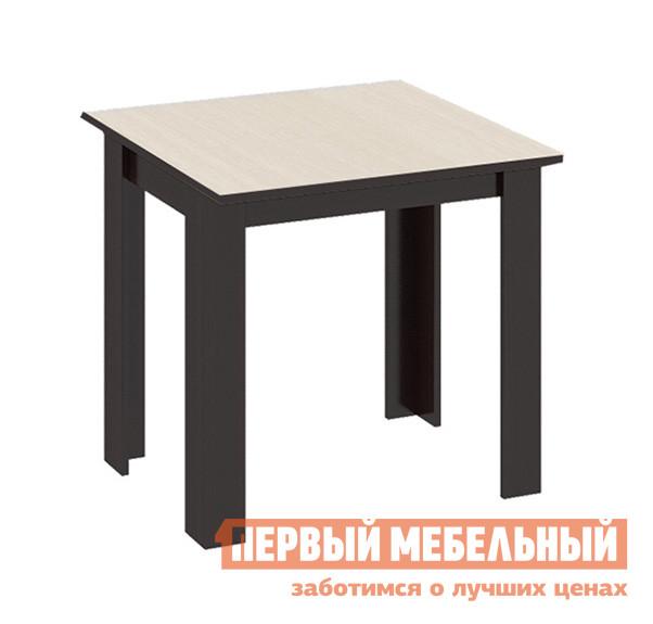 Кухонный стол ТриЯ Кантри (мини) Т2 Венге / Дуб молочныйКухонные столы<br>Габаритные размеры ВхШхГ 710x700x700 мм. Компактный обеденный стол отлично подойдет для небольшой кухни и позволит создать уютную обеденную зону.  Модель выполнена в лаконичном дизайне прямых линий и прекрасно дополнит как классический, так и современный интерьер. Стол изготавливается из ЛДСП.<br><br>Цвет: Венге / Дуб молочный<br>Цвет: Темное-cветлое дерево<br>Высота мм: 710<br>Ширина мм: 700<br>Глубина мм: 700<br>Кол-во упаковок: 1<br>Форма поставки: В разобранном виде<br>Срок гарантии: 24 месяца<br>Материал: Деревянные, из ЛДСП<br>Форма: Квадратные, Прямоугольные<br>Размер: Маленькие