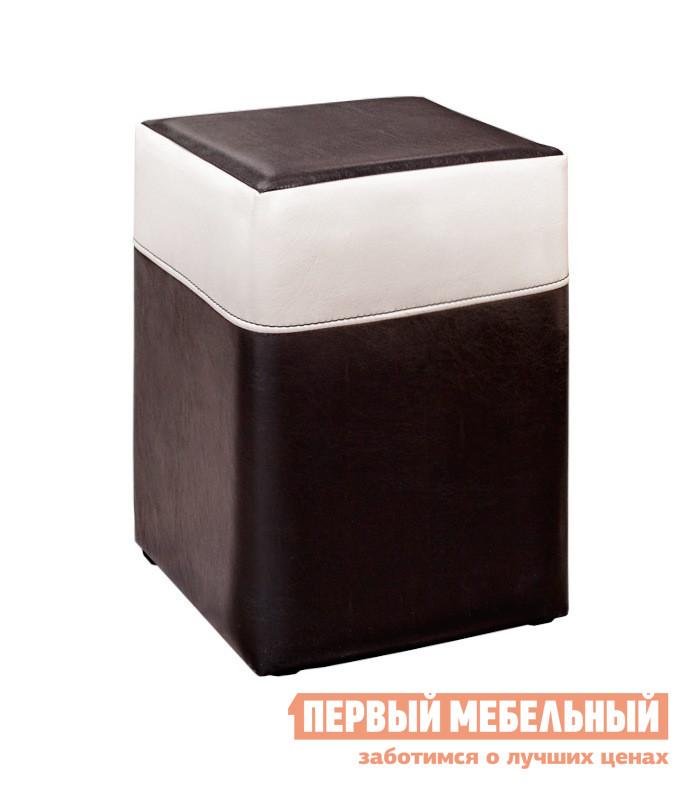 Пуфик ТриЯ Пуф Т2 Светлая / Темная иск. кожаПуфики для спальни<br>Габаритные размеры ВхШхГ 470x310x310 мм. Простой и элегантный пуф, отличающийся не только эргономичностью, но и стильным дизайном.  Этот элемент украсит интерьер помещения, придаст ему более уютный и комфортабельный вид. Модель идеально подходит для прихожей, кухни, детской и  другого небольшого помещения.  Пуф отлично сочетается с любой мебелью похожей цветовой категории.  Каркас изделия выполнен из качественного ЛДСП, обивка — искусственная кожа. Максимальная нагрузка на пуфик — 90 кг.<br><br>Цвет: Светлая / Темная иск. кожа<br>Цвет: Черный<br>Высота мм: 470<br>Ширина мм: 310<br>Глубина мм: 310<br>Кол-во упаковок: 1<br>Форма поставки: В собранном виде<br>Срок гарантии: 18 месяцев<br>Материал: из искусственной кожи<br>Форма: Квадратные<br>Размер: Одноместные<br>Особенности: С мягким сиденьем