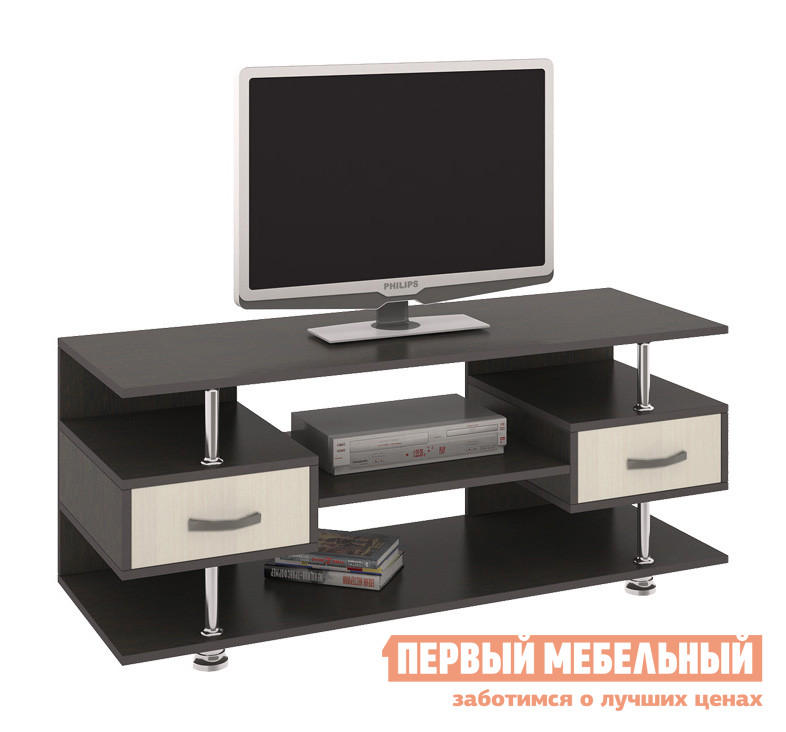 ТВ-тумба ТриЯ Тумба TV-14 Венге Цава / Молочный дуб