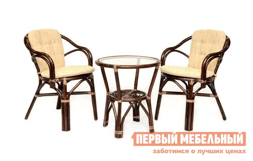 Комплект плетеной мебели  02/13 Браун