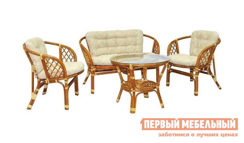 Комплект плетеной мебели ЭкоДизайн БАГАМА 03/10 комплект плетеной мебели экодизайн пеланги 02 15 1