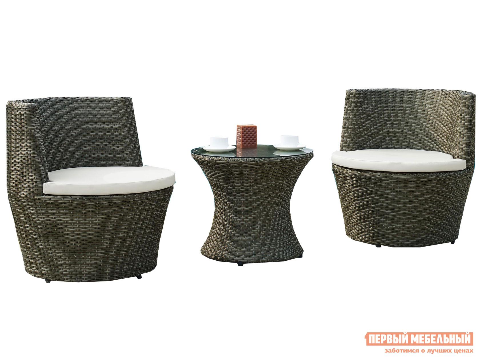 Комплект плетеной мебели  Комплект плетеной мебели 210025 Темный иск. ротанг