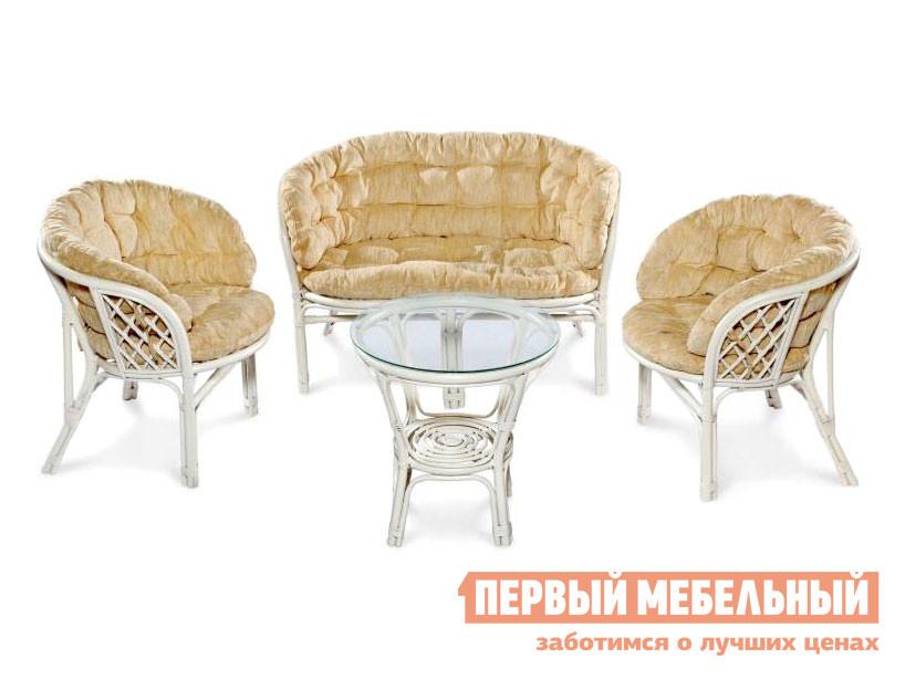 Комплект плетеной мебели  Комплект кофейный БАГАМА, арт. 03/10 Белый