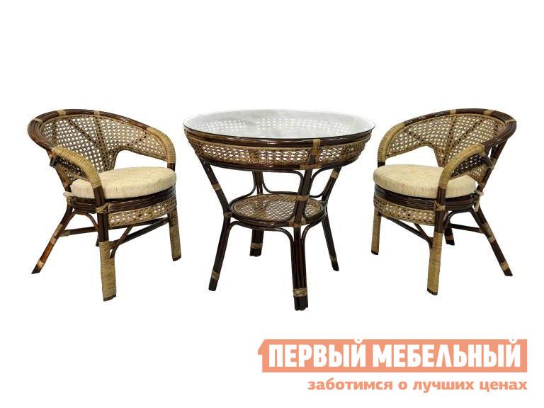 Комплект плетеной мебели ЭкоДизайн Комплект обеденный JAVA-1 комплект плетеной мебели keter комплект moorea set unity