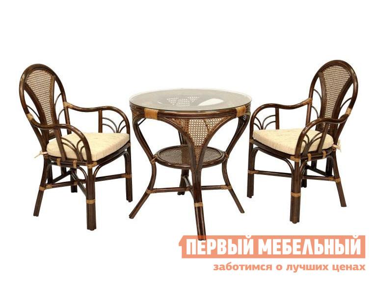 Комплект плетеной мебели ЭкоДизайн Комплект обеденный LaMokko L комплект плетеной мебели экодизайн пеланги 02 15 1