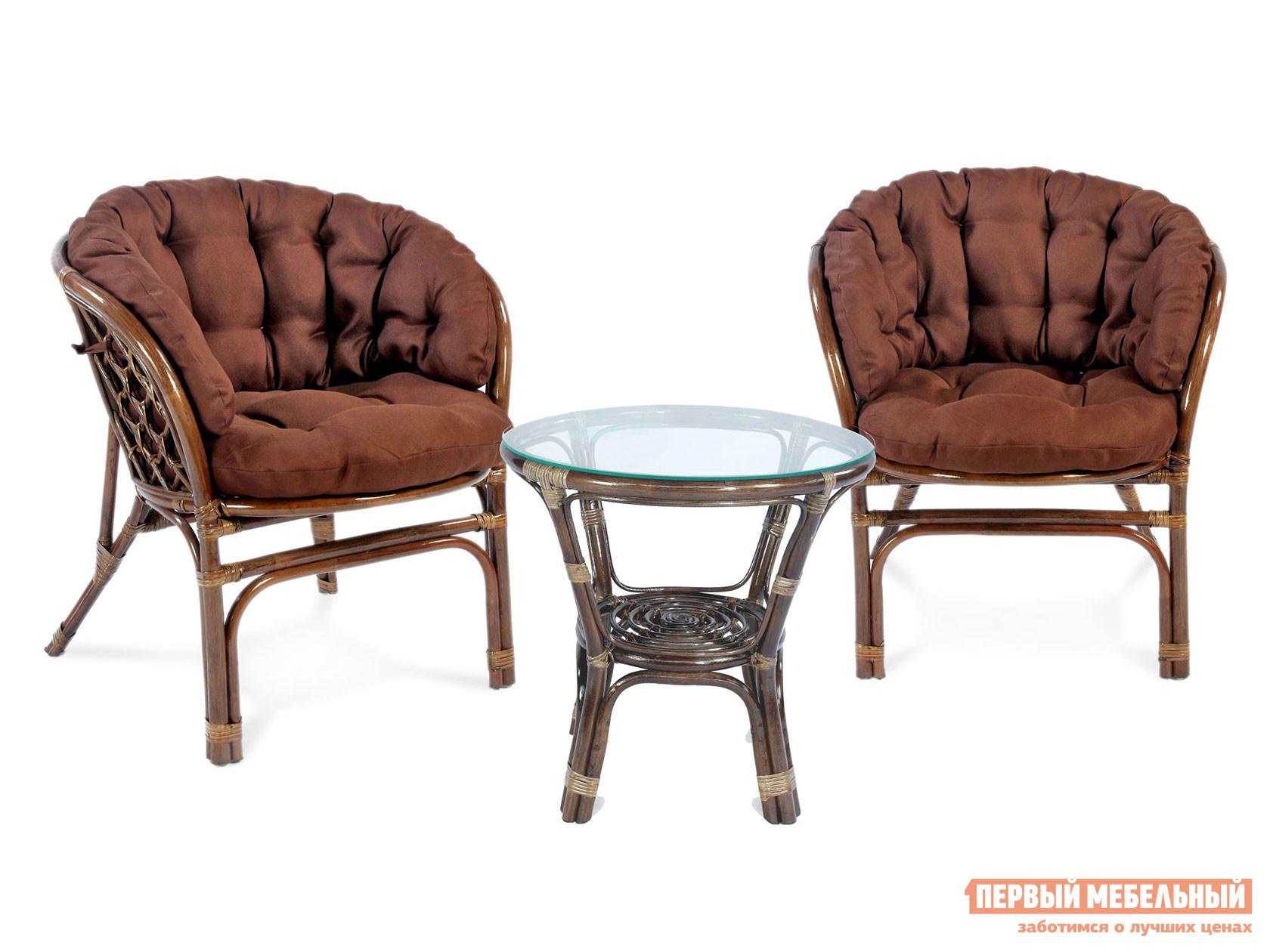 Комплект плетеной мебели ЭкоДизайн Комплект кофейный БАГАМА S, арт. 03/10 Б (S)-1 комплект плетеной мебели экодизайн пеланги 02 15 1
