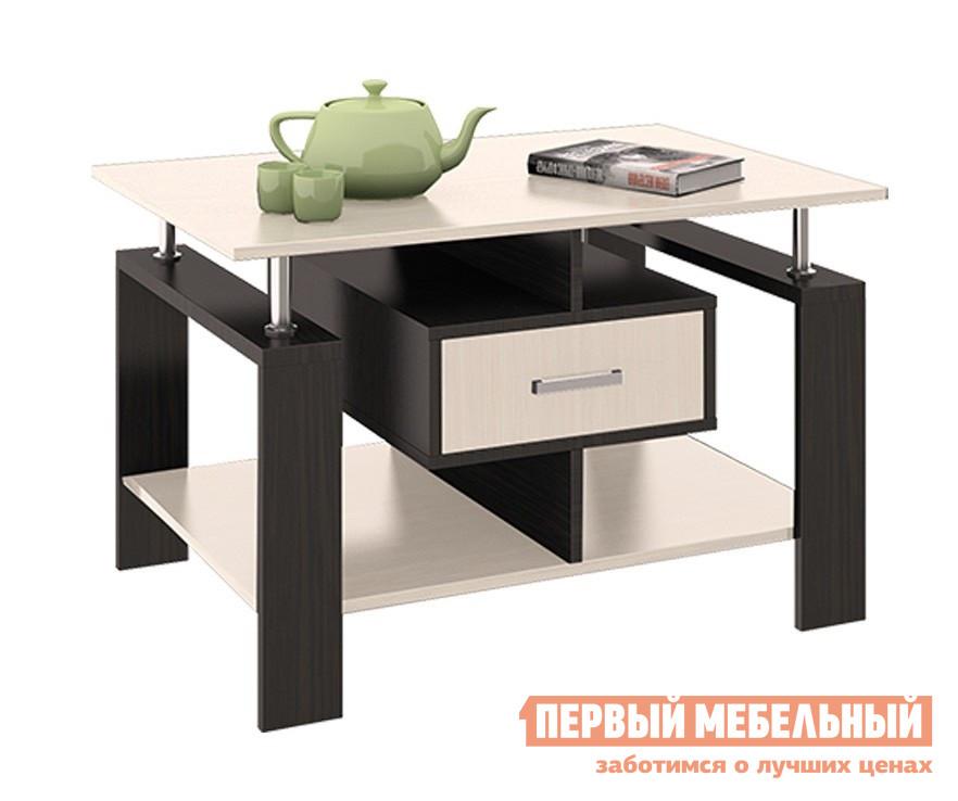 Журнальный столик ТриЯ Тип 3 Венге Цава / Молочный дуб