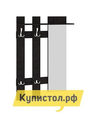 Настенная вешалка ТриЯ Вешалка с крючками и зеркалом Арт (мини)  Венге Цаво