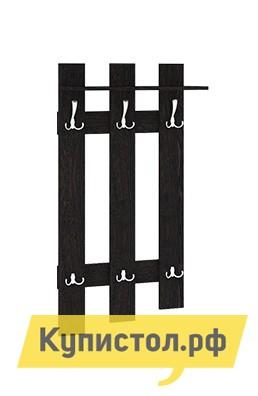 Настенная вешалка ТриЯ Вешалка с крючками Арт (мини)  Венге ЦавоНастенные вешалки<br>Габаритные размеры ВхШхГ 1180x600x270 мм. Небольшая удобная настенная вешалка станет отличным решением для создания уютного интерьера любой прихожей. Большое количество крючков для одежды и аксессуаров станут прекрасной альтернативой громоздкой мебели для прихожей. В верхней части модели есть полочка для зонтов и головных уборов. Все элементы прихожей производятся из ЛДСП.  Крючки выполнены из металла.<br><br>Цвет: Венге Цаво<br>Цвет: Венге<br>Высота мм: 1180<br>Ширина мм: 600<br>Глубина мм: 270<br>Кол-во упаковок: 1<br>Форма поставки: В разобранном виде<br>Срок гарантии: 18 месяцев<br>Материал: Деревянные<br>Особенности: С полкой, Дешевые