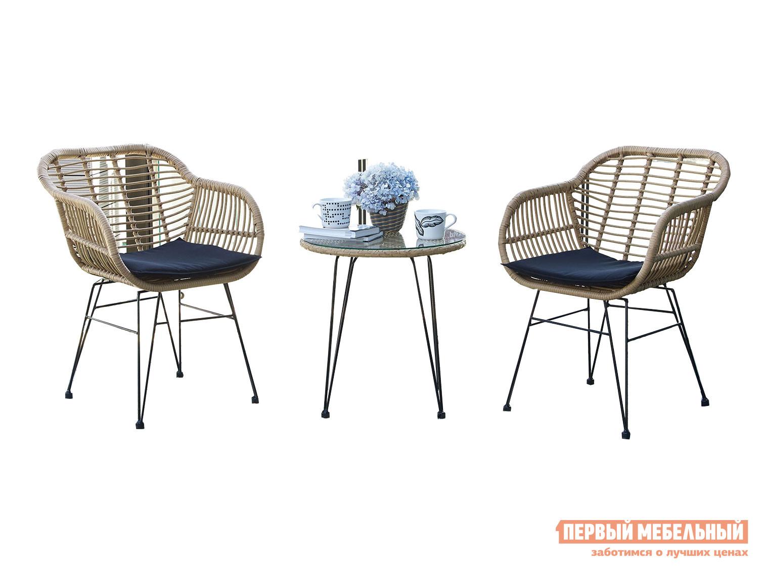 Комплект садовой мебели Первый Мебельный кофейный 210334