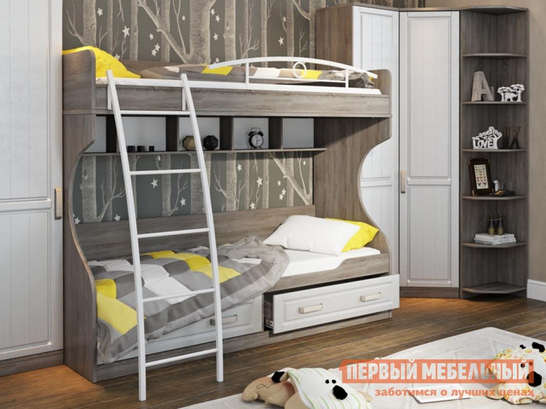 Двухъярусная кровать ТриЯ СМ-223.11.002 детская двухъярусная кровать с лестницей ящиками трия см 250 11 12