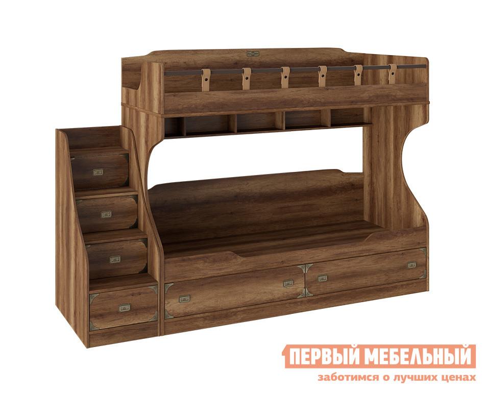 Детская двухъярусная кровать с лестницей-ящиками ТриЯ СМ-250.11.12 кровать двухъярусная с лестницей с ящиками прованс