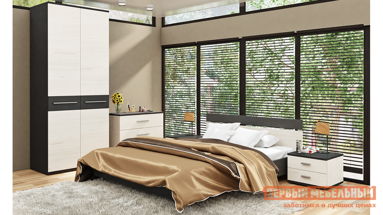 Комплект мебели для спальни ТриЯ Сити Тексит К5 комплект мебели для спальни трия амели к1
