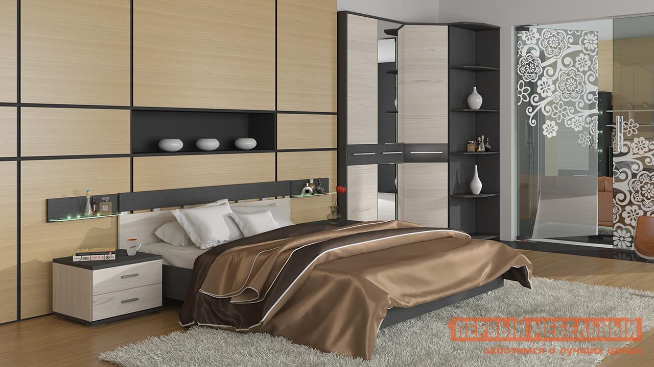 Комплект мебели для спальни ТриЯ Сити Тексит К1 спальный гарнитур трия саванна к1