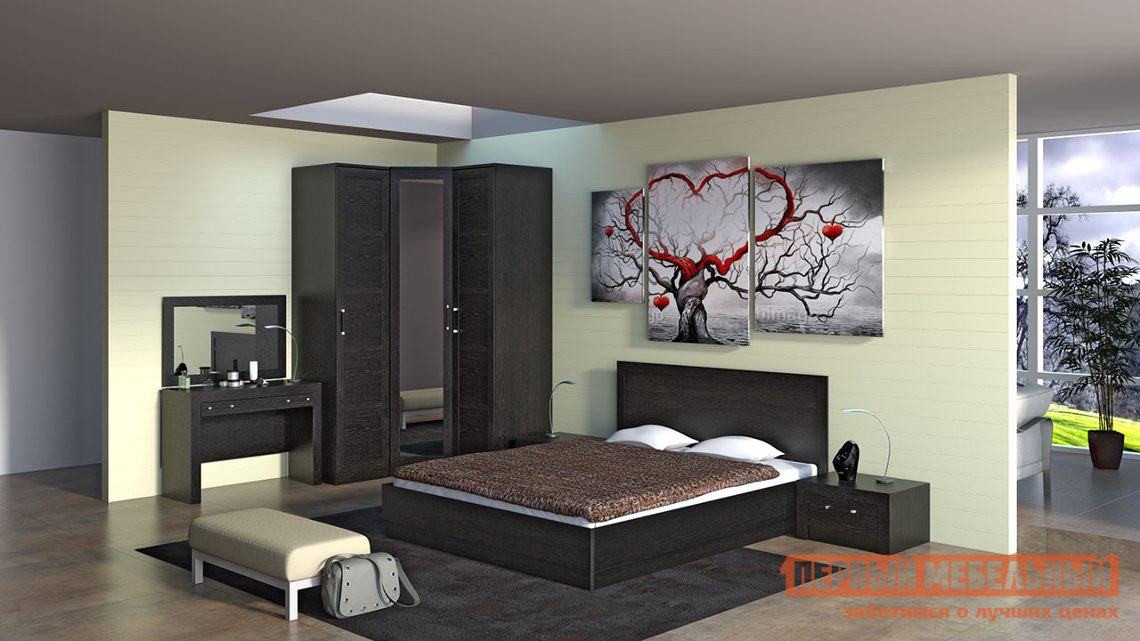 Комплект мебели для спальни ТриЯ Токио К8 комплект мебели для спальни трия амели к1