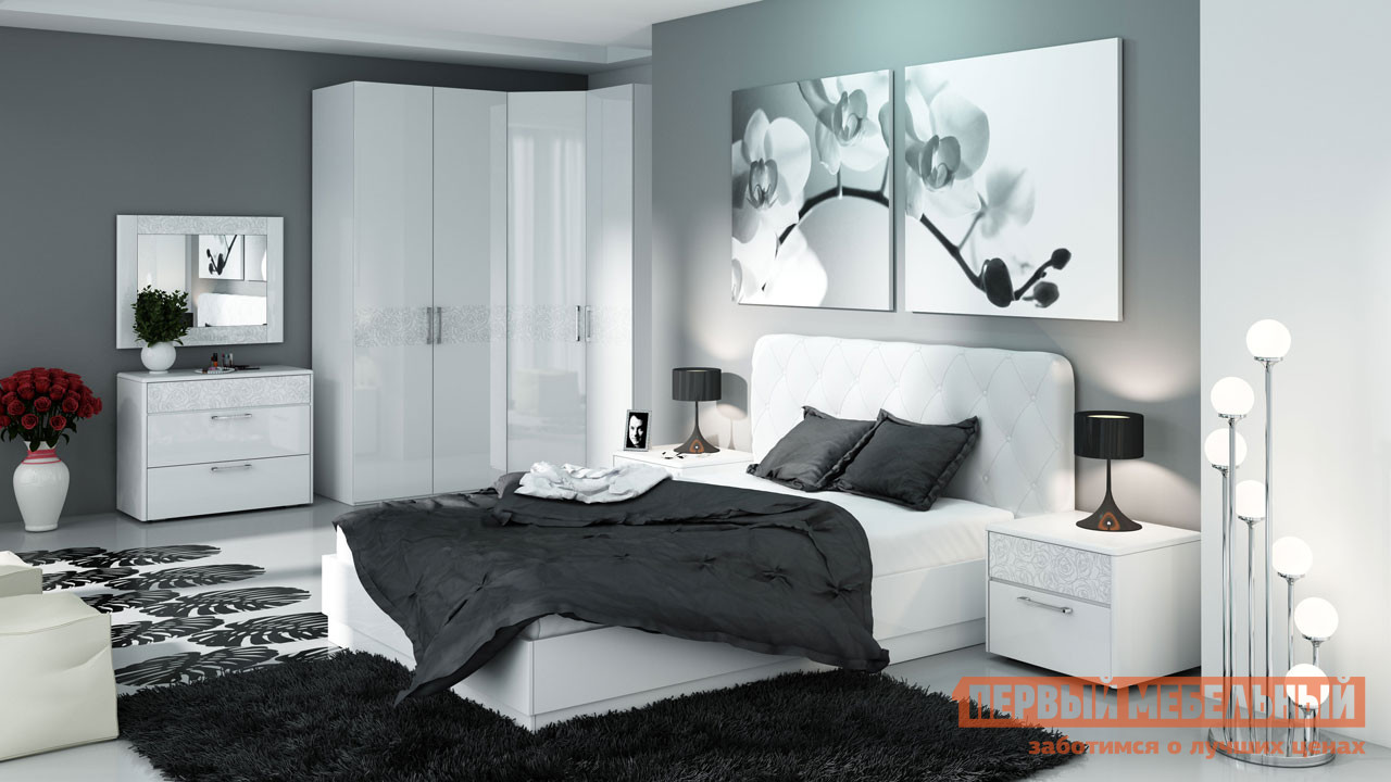 Комплект мебели для спальни ТриЯ Амели К1 спальный гарнитур трия саванна к1