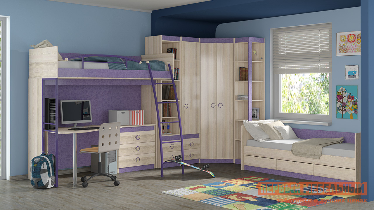 Комплект детской мебели ТриЯ Индиго К2 спальный гарнитур трия лючия к2