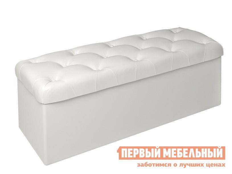 Пуфик ТриЯ Тип 3 Белая экокожа