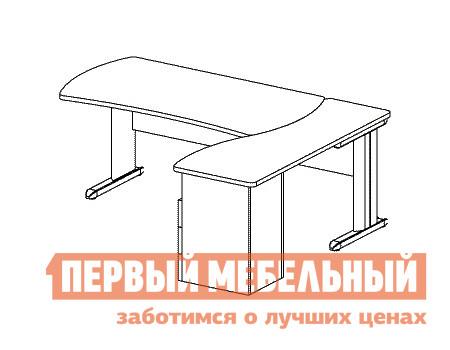 Компьютерный стол Дэфо B184/1 стол офисный дэфо берлин b101 правый береза серый