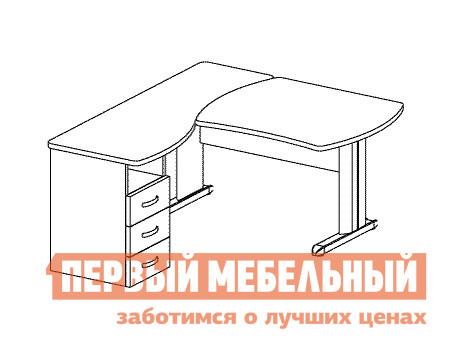 Компьютерный стол Дэфо B175/1 стол офисный дэфо берлин b101 правый береза серый