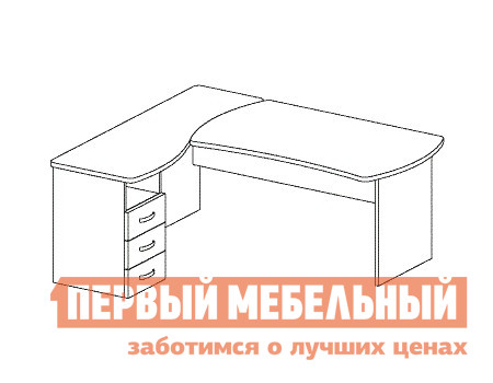 Компьютерный стол Дэфо B180 стол офисный дэфо берлин b101 правый береза серый