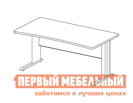 Компьютерный стол Дэфо BM281/1 стол офисный дэфо берлин b101 правый береза серый