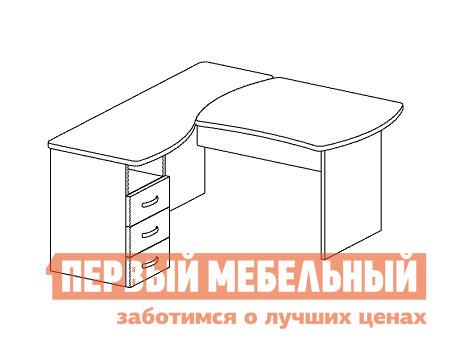 Компьютерный стол Дэфо B174 стол офисный дэфо берлин b101 правый береза серый