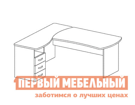Компьютерный стол Дэфо B186 компьютерный стол кс 20 30